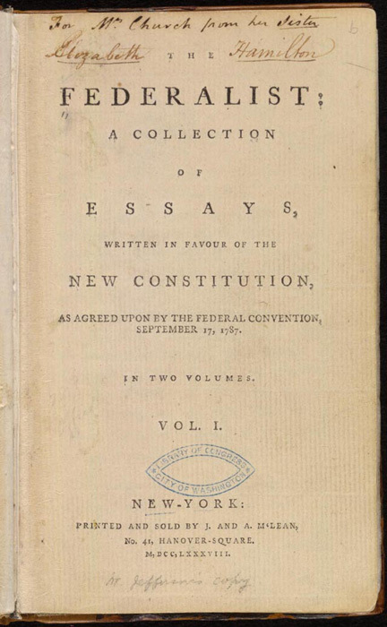 Federalist cover