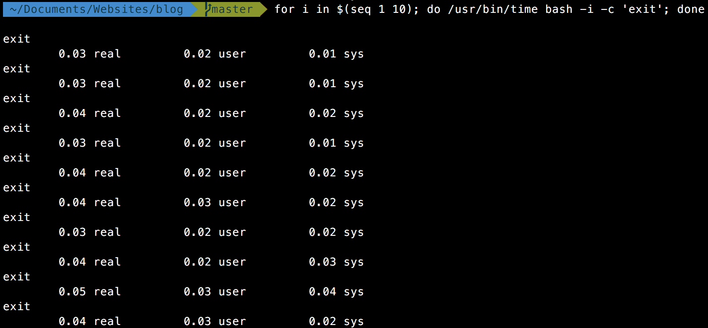 Speeding up zsh and Oh-My-Zsh - JonLuca's Blog