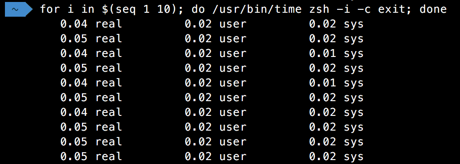 Zsh speeds with no Oh my zsh or nvm